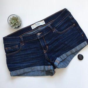 Abercrombie & Fitch Jean Shorts Dark Wash Size 8